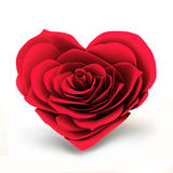 Сердце красной розы Стоковые Изображения