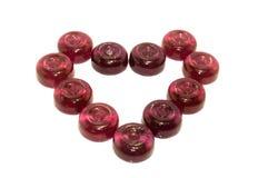 Сердце круглых конфет Стоковые Изображения RF