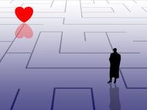 сердце к путю который Стоковые Изображения
