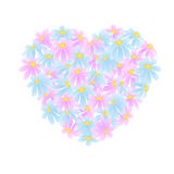 Сердце маргариток Стоковые Изображения RF