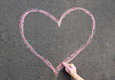 Сердце мела стоковые фотографии rf