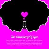 Сердце, медицинская химия склянки влюбленности Стоковые Фото