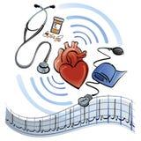 сердце медицинского соревнования Стоковое Изображение