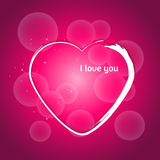сердце мое портфолио к гостеприимсву valentines Декоративная предпосылка с bokeh Стоковое Изображение