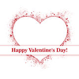 сердце мое портфолио к гостеприимсву valentines Стоковое Изображение RF