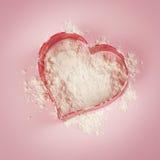 Сердце муки Стоковая Фотография RF