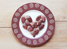 Сердце мяса сделанное сердец цыпленка Стоковое Изображение RF