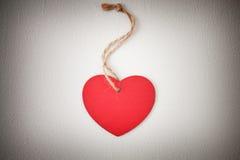 Сердце на грубой веревочке Стоковые Фотографии RF