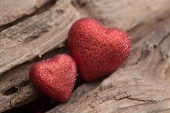 Сердце на деревянной предпосылке Стоковая Фотография RF