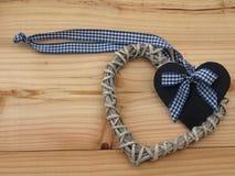 Сердце на доске Стоковое Изображение