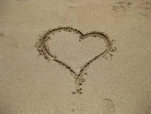 Сердце на песке Стоковое Фото