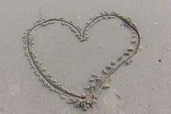 Сердце на песке Стоковое Изображение