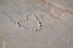 Сердце на пляже Стоковые Фото