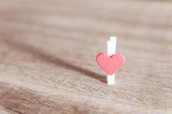Сердце на древесине Стоковое фото RF