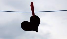 Сердце на строке Стоковое Изображение RF