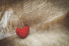 Сердце на холсте Стоковое фото RF