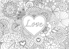 Сердце на цветках бесплатная иллюстрация