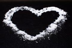 Сердце дня валентинок от соли стоковое изображение rf