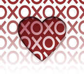 Сердце объятий и поцелуев Стоковое Изображение RF