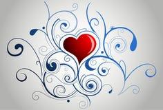 сердце орнаментирует форму Стоковое Изображение RF