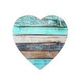 Сердце доски изолированное на белой предпосылке Стоковая Фотография