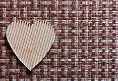 Сердце отрезанное из картона Стоковое Изображение