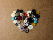 Сердце от кнопок Стоковые Фотографии RF