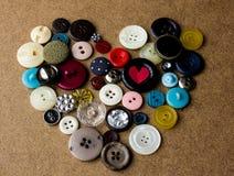 Сердце от кнопок ST Стоковая Фотография