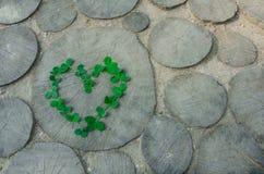 Сердце от клевера лист Стоковые Фотографии RF
