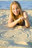 Сердце от песка Стоковое Фото