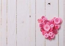 Сердце от розовых buttoms Стоковые Фотографии RF