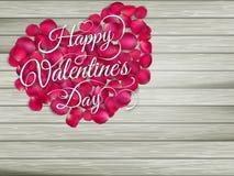 Сердце от цветков на деревянном столе 10 eps Стоковые Фото
