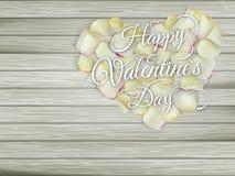 Сердце от цветков на деревянном столе 10 eps Стоковое Фото