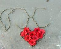 Сердце от цветков Стоковые Изображения