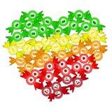 Сердце от bonbons Стоковое Фото