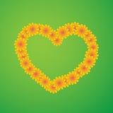 Сердце от wildflowers Стоковые Фото