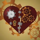 Сердце панка пара Стоковая Фотография RF