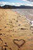 Сердце песка Стоковые Фото