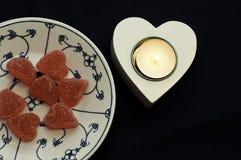 Сердце помадок Стоковые Фото