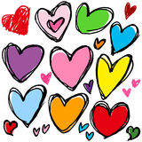 Сердце почерка Стоковое Фото