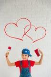 сердце подарка дня принципиальной схемы голубой коробки предпосылки схематическое изолировало valentines quill жизни письма ювели Стоковое Изображение