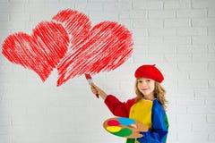 сердце подарка дня принципиальной схемы голубой коробки предпосылки схематическое изолировало valentines quill жизни письма ювели Стоковые Изображения RF