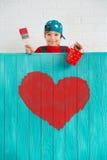 сердце подарка дня принципиальной схемы голубой коробки предпосылки схематическое изолировало valentines quill жизни письма ювели Стоковые Фотографии RF