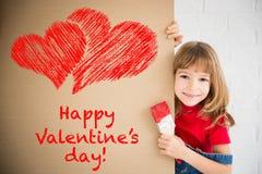 сердце подарка дня принципиальной схемы голубой коробки предпосылки схематическое изолировало valentines quill жизни письма ювели Стоковые Фото