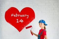 сердце подарка дня принципиальной схемы голубой коробки предпосылки схематическое изолировало valentines quill жизни письма ювели Стоковая Фотография