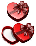 сердце подарка 2 коробок Стоковое фото RF