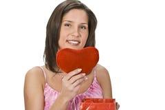 сердце подарка Стоковое Фото