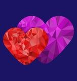 Сердце полигона любящее Стоковая Фотография