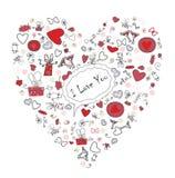 сердце подняло стоковое изображение rf