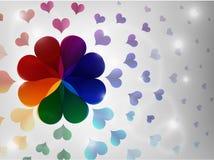 сердце предпосылки цветастое Стоковые Изображения